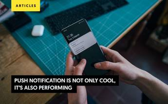 Push notification is not only cool, it's also performing