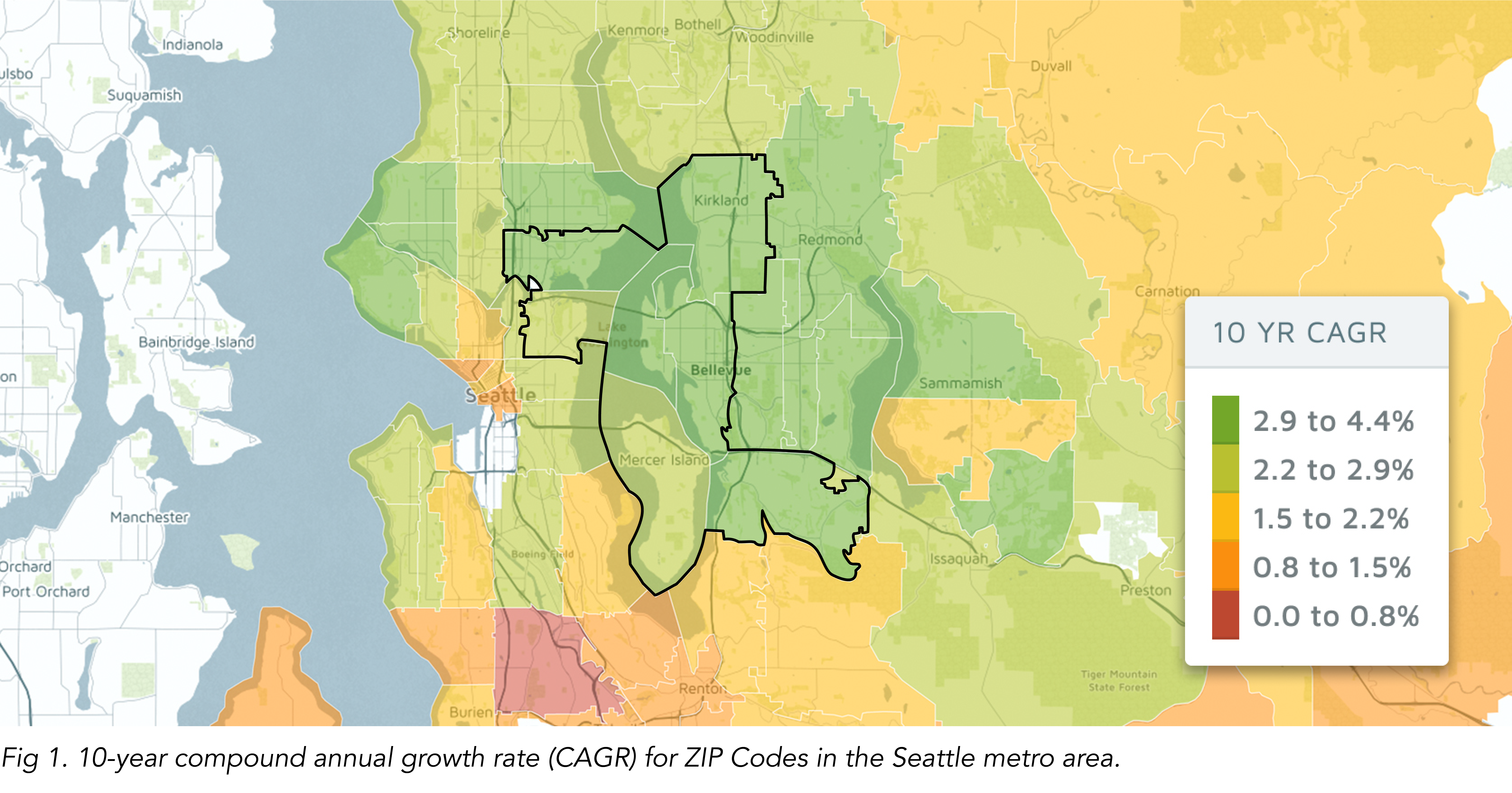 map of Seattle metro area