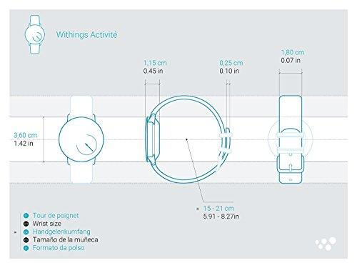 another image ofWithings Aktivitätstracker Pop Smart Watch Aktivitäts und Schlaf tracker, Shark Grau, 70077401