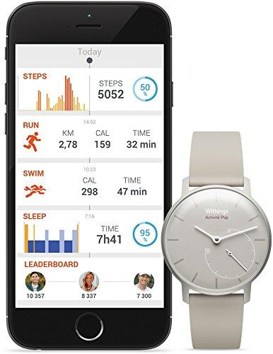 another image ofWithings Aktivitätstracker Pop Smart Watch Aktivitäts und Schlaf tracker, Sand, 70075001