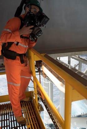 IBM commercial filmed on Australian oil rig