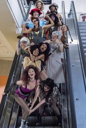 Wrestling series GLOW filmed in California mall