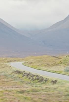 Porsche filmed commercial campaign on Skye