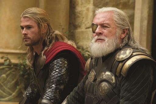 Thor The Dark World Chris Hemsworth Anthony Hopkins Zachary Levi