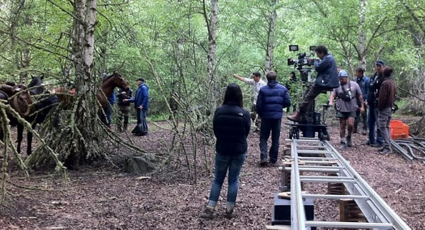 Slow West setting up on location