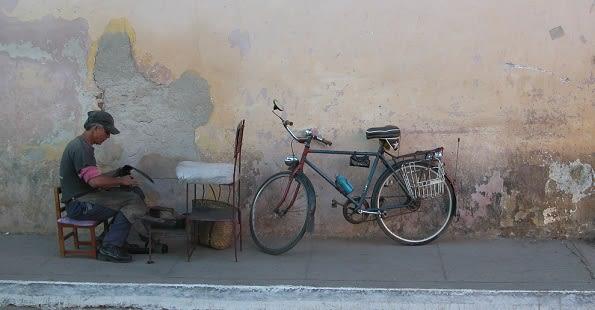 Cuba man in street