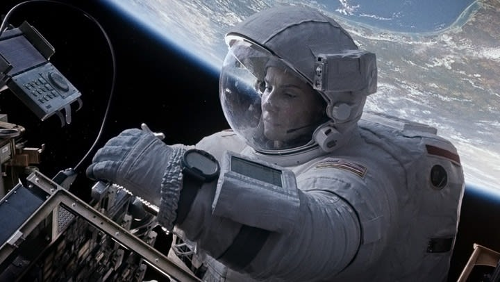 Sandra Bullock filming at Framestore for Gravity