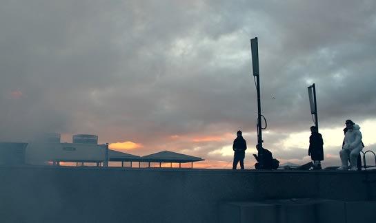 Smokeman on the roof