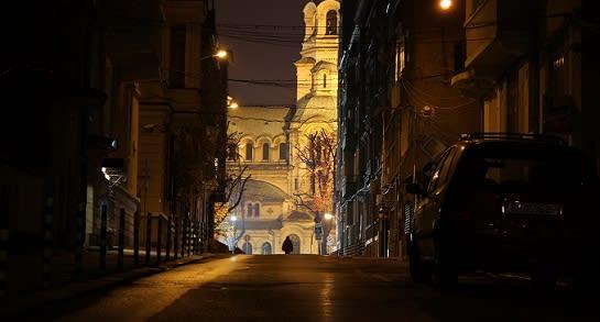 Cathedral at night Viktoria
