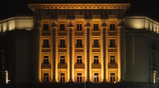 building at night - Viktoria