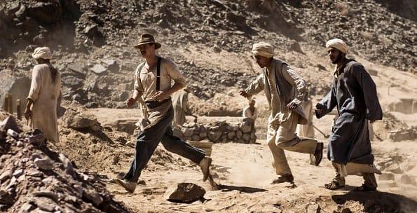 Tutankhamun action scene