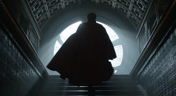 Doctor Strange on set