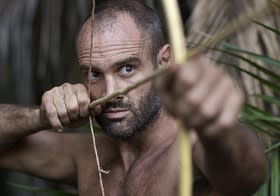 Ed Stafford with bow