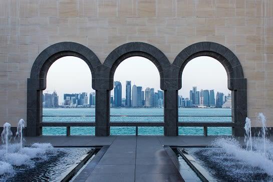 Qatar three arches film location