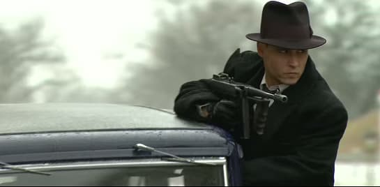 Johnny Depp in Public Enemies shot in Wisconsin