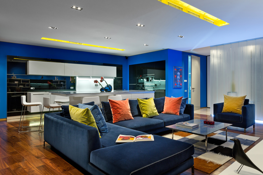 Multicolored apartment