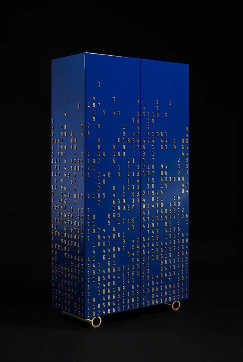 Містка шафа Numbers Game | Дизайнер Юрій Зименко