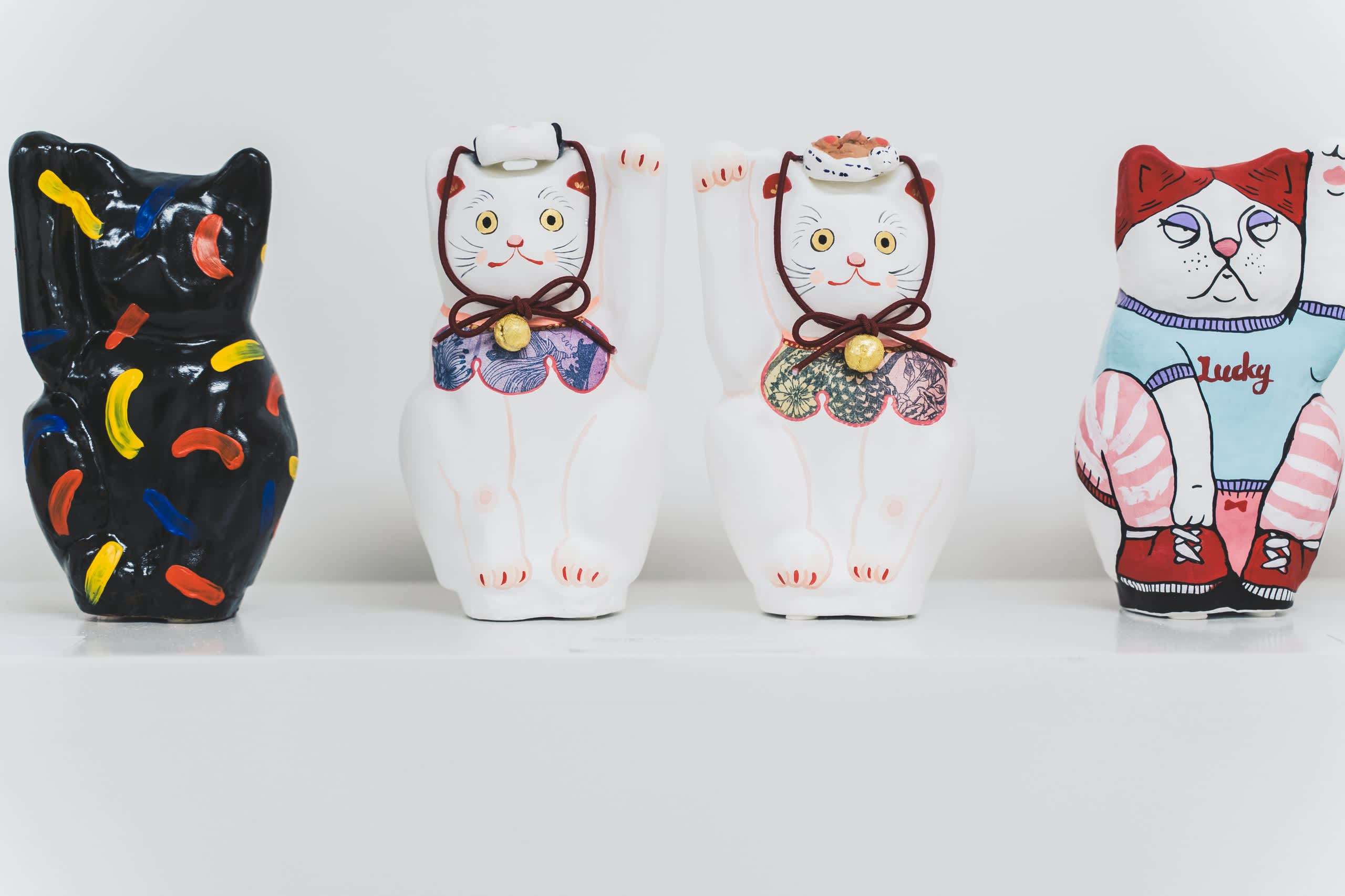 exposition a lucky cat art exhibition - Sato creative - Paris - artistes français-japonais- sid lee