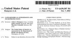 Τα Κανναβινοειδή ως Νευροπροστατευτικά και Αντιοξειδωτικά / U.S. Patent 6630507 1