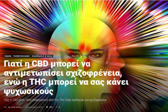 Μπορεί η CBD να Αντιμετωπίσει τη Σχιζοφρένεια και η THC να σας Κάνει Ψυχωσικούς ; 2