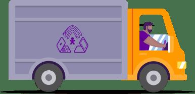 Ilustração de um caminhão