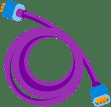 Ilustração de um cabo