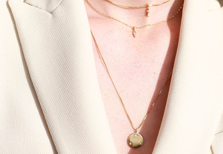 charm collection neck shot