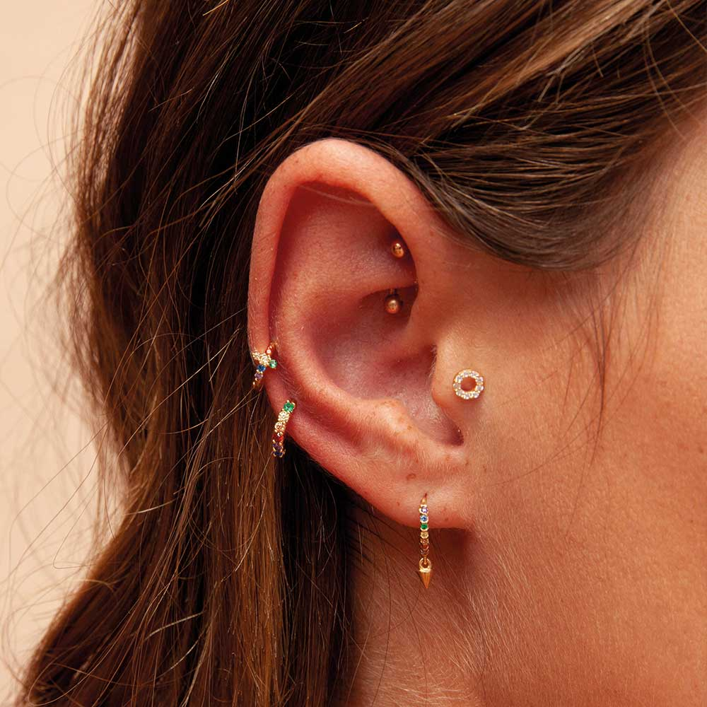 simple ball earrings|clip on earrings|ear cuffs|dangle earrings|earring jackets|hoop earrings|stud earrings|European and American fashion small square diamond diamond stud