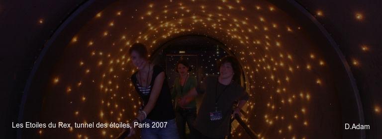 Les Etoiles du Rex, tunnel des étoiles, Paris 2007 D.Adam