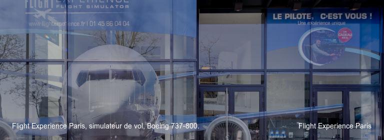 Flight Experience Paris, simulateur de vol, Boeing 737-800. Flight Experience Paris