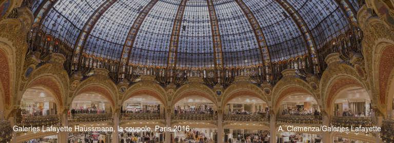 Galeries Lafayette Haussmann, la coupole, Paris 2016 A. Clemenza/Galeries Lafayette
