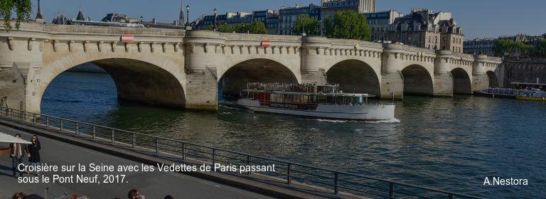 Croisière sur la Seine avec les Vedettes de Paris passant sous le Pont Neuf, 2017. A.Nestora