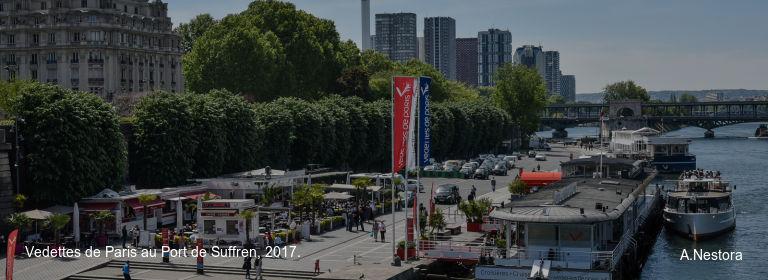 Vedettes de Paris au Port de Suffren, 2017. A.Nestora