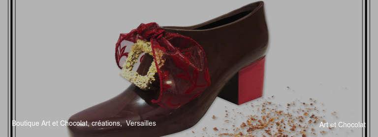Boutique Art et Chocolat, créations,  Versailles Art et Chocolat