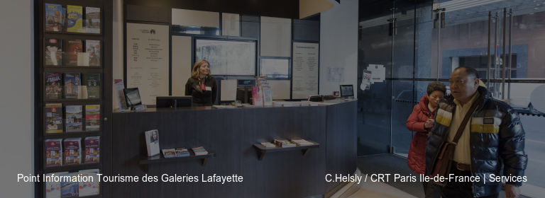 Point Information Tourisme des Galeries Lafayette C.Helsly / CRT Paris Ile-de-France | Services