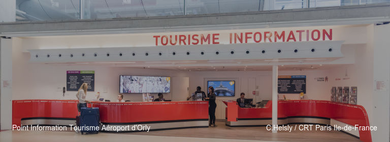 Point Information Tourisme Aéroport d'Orly C.Helsly / CRT Paris Ile-de-France