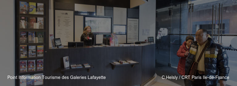 Point Information Tourisme des Galeries Lafayette C.Helsly / CRT Paris Ile-de-France