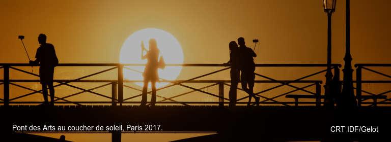 Pont des Arts au coucher de soleil, Paris 2017. CRT IDF/Gelot