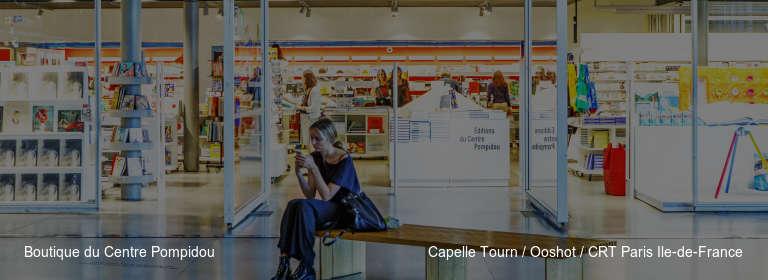 Boutique du Centre Pompidou Capelle Tourn / Ooshot / CRT Paris Ile-de-France