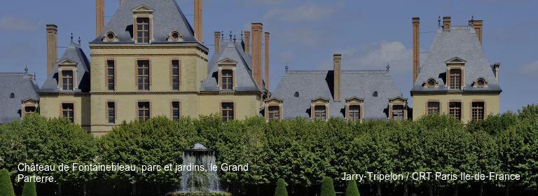 Château de Fontainebleau, parc et jardins, le Grand Parterre. Jarry-Tripelon / CRT Paris Ile-de-France