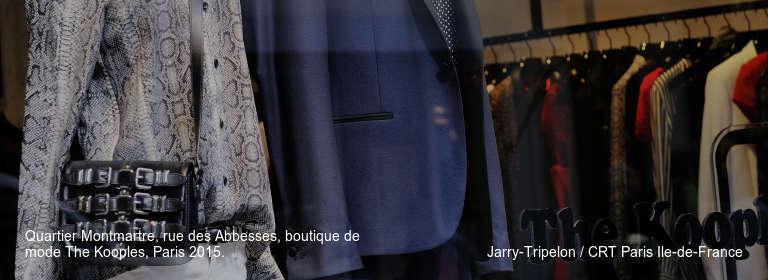 Quartier Montmartre, rue des Abbesses, boutique de mode The Kooples, Paris 2015. Jarry-Tripelon / CRT Paris Ile-de-France