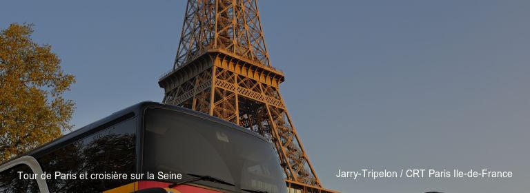 Tour de Paris et croisière sur la Seine Jarry-Tripelon / CRT Paris Ile-de-France