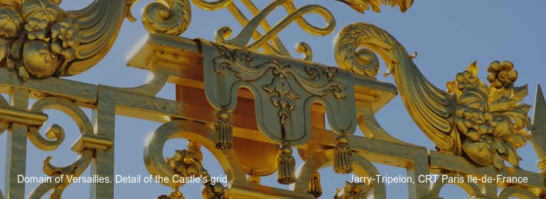 Domain of Versailles. Detail of the Castle's grid Jarry-Tripelon, CRT Paris Ile-de-France