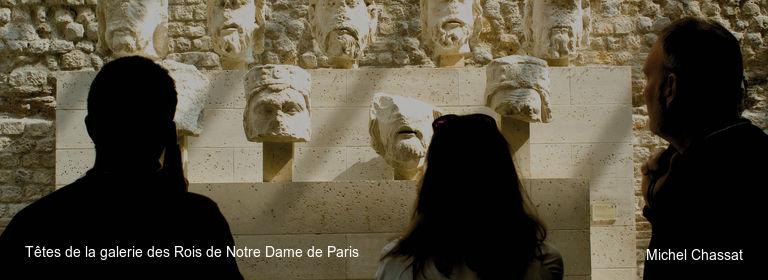 Têtes de la galerie des Rois de Notre Dame de Paris Michel Chassat