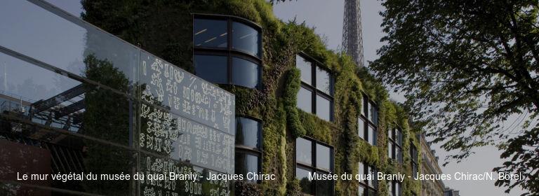 Le mur végétal du musée du quai Branly - Jacques Chirac Musée du quai Branly - Jacques Chirac/N. Borel