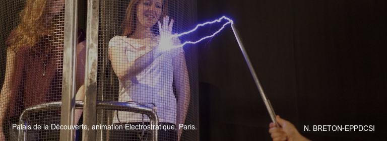 Palais de la Découverte, animation Èlectrostratique, Paris. N. BRETON-EPPDCSI
