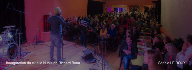 Inauguration du club le Nubia de Richard Bona Sophie LE ROUX