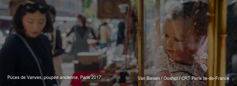 Puces de Vanves, poupée ancienne, Paris 2017. Van Biesen / Ooshot / CRT Paris Ile-de-France