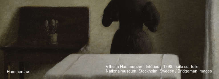 Hammershøi Vilhelm Hammershøi, Intérieur, 1898, huile sur toile, Nationalmuseum, Stockholm, Sweden / Bridgeman Images