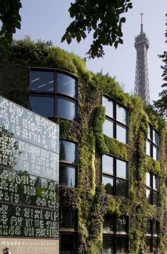 Le mur végétal du musée du quai Branly - Jacques Chirac Musée du quai Branly - Jacques Chirac%252FN. Borel